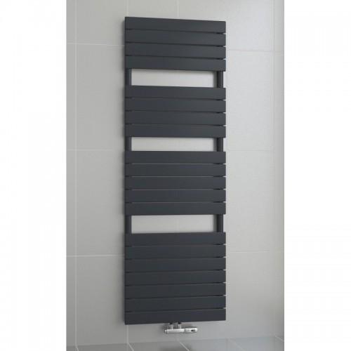 1500 x 450 mm Flach Anthrazit Badheizkörper Handtuchwärmer